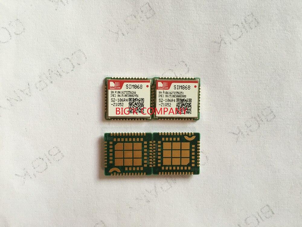 SIM868 10pcs SIMCOM GPRS + GPS 100% Novo & Original Sem falsa Incorporado módulo quad-band em vez de SIM808 SIM908
