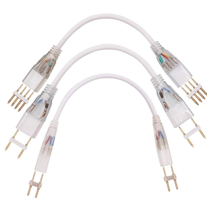 2-контактный/4-контактный угловой разъем RGB, прямой разъем 110 В 220 В, двойные среднего разъема