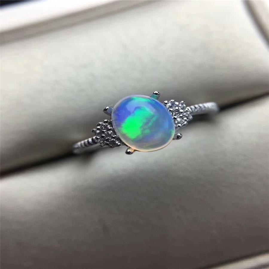 Натуральный Опаловый камень в форме овала, цельное серебро 925 пробы, кольца для женщин, Милый сердечко, тонкий браслет, Настоящее серебро 925 п...