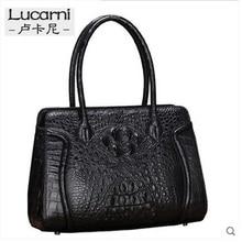 lukani crocodile package Women's small bags  slanted across the single shoulder women bag