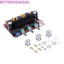 Xh-m139 2.1 kanal dijital güç amplifikatörü kurulu 12 v-24 v geniş voltaj TPA3116D2 2*50W 100W
