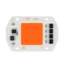LED puce COB grandir lampe spectre complet 20W 30W 50W Phyto grandir lumière AC 220V Fito lampe pour plante de serre fleur semis