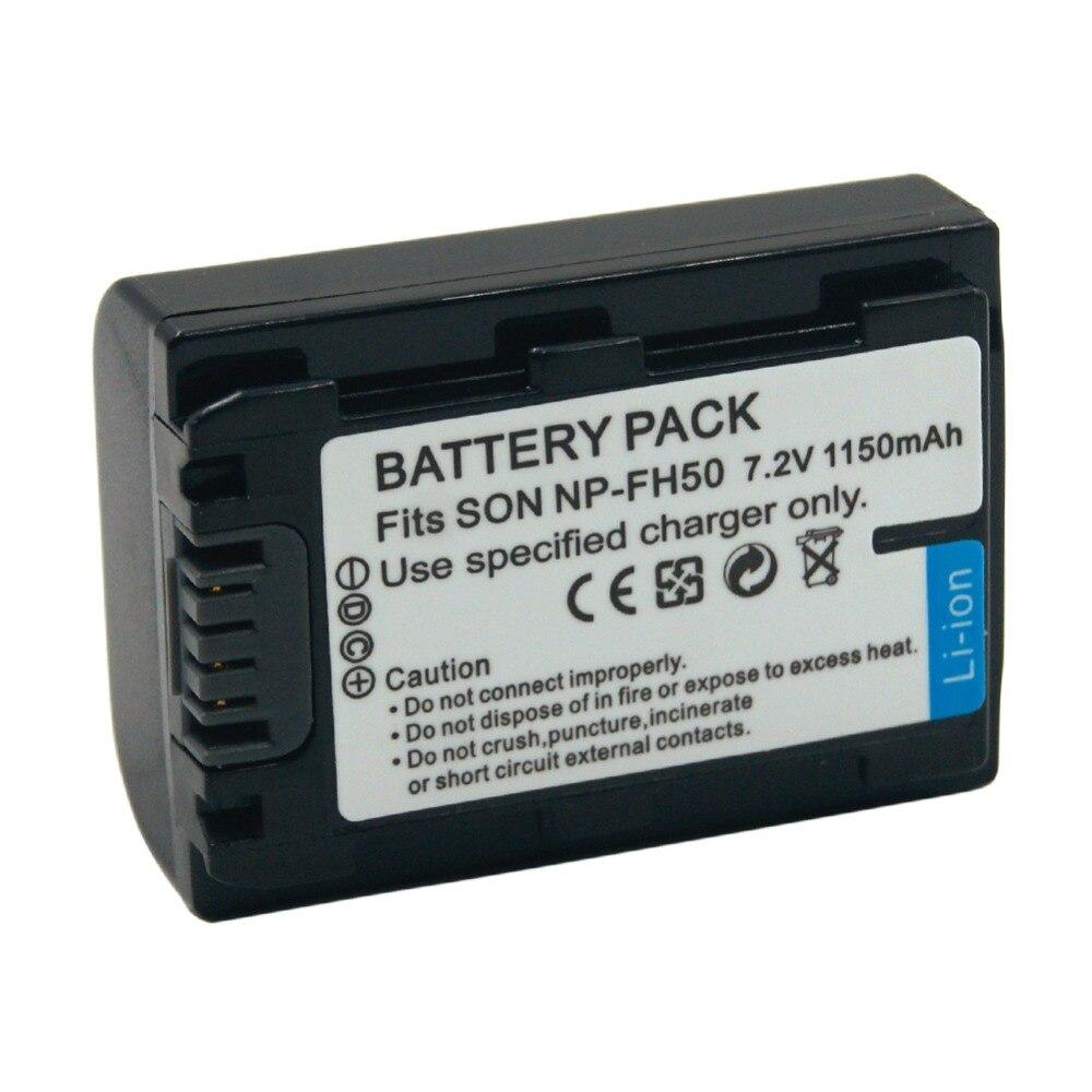 NP-FH50 FH60 FH70 1150mAh Câmera Digital Bateria Recarregável para Sony Alpha DSLR-A230 A290 A330 A380 A390 DVD103 DVD105