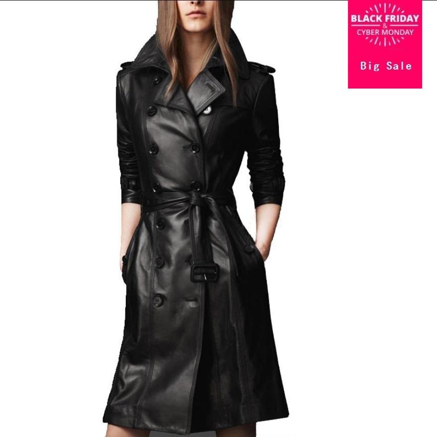 Winter women's leather jacket high-end fashion PU leather coat Windbreaker single breasted overcoat slim casual outwear L1539
