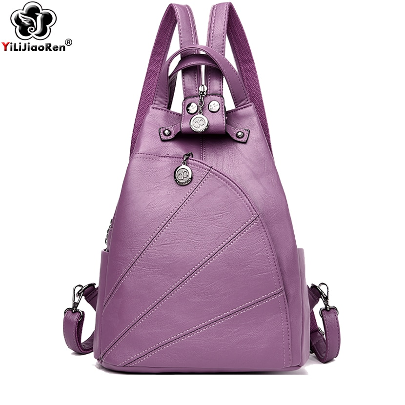 Fashion Backpack Female Brand Leather Backpack Women Luxury Travel Bag Large Capacity Backpacks Shoulder Bag Mochila Feminina