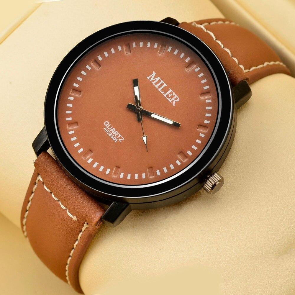 Reloj Miler para hombre, nuevo reloj de lujo para hombre, Reloj Simple de cuarzo, gran oferta de negocios, reloj masculino erkek kol saati