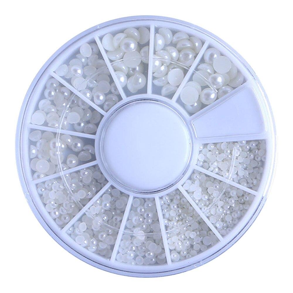 Accesorios de manicura a la moda para mujer, brillos de piedras de imitación, tamaño de perla para uñas, mezcla de taladro de manicura c0912