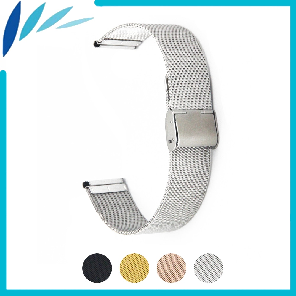 Milanese Stainless Steel Watch Band 16mm 18mm 20mm 22mm 24mm Universal Watchband Hook Clasp Strap Wrist Loop Belt Bracelet