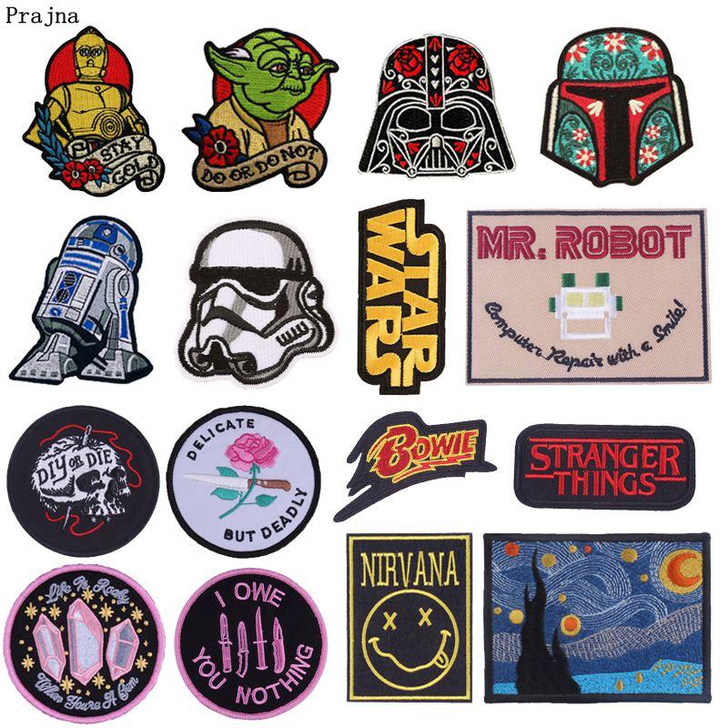 Parche de planchado Prajna de Star Wars, insignias bordadas de Stranger Things DIY o pegatinas de troquel para abrigos, apliques DIY en ropa de moda