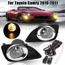 Dla Toyota Camry 2010-2011 2 szt. (para) prawa/lewa lampa przeciwmgielna przednia lampa do jazdy H11 żarówki w/zestaw przełączników + osłona na maskownicę Bezel