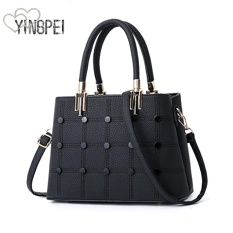 Women Bag Designer New Fashion Casual women's handbags Luxury shoulder bag high quality PU Brand European style with button