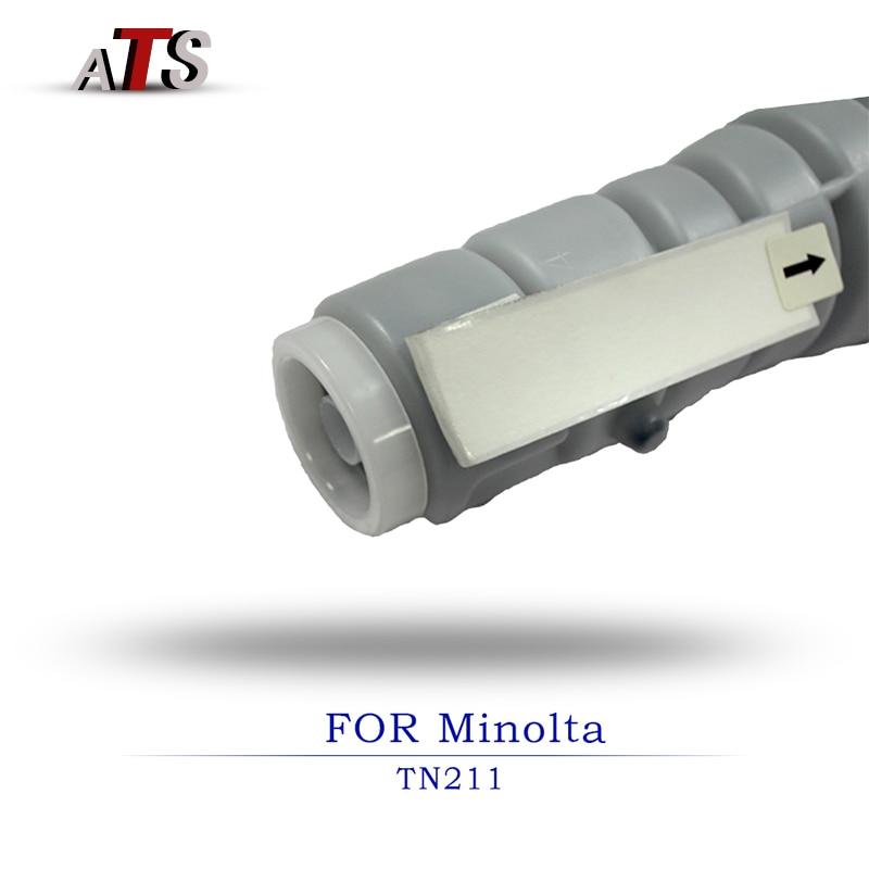 2 uds. Suministros para impresora, cartucho de tóner para fotocopiadora TN211 compatible con Minolta Bizhub BH250 BH222 BH282 BH200, piezas de repuesto para fotocopiadora