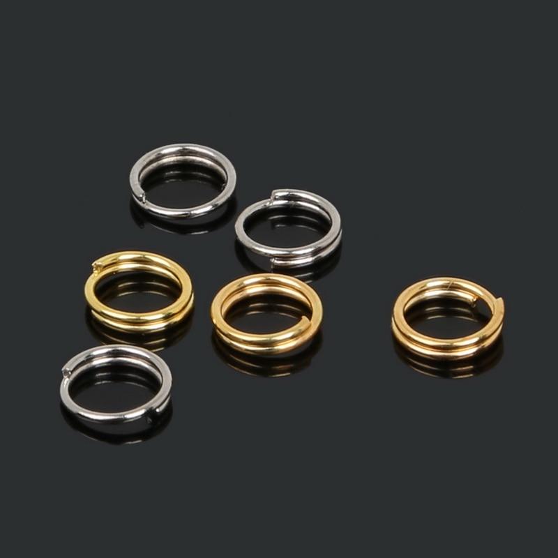 6mm, 660 uds, anillos abiertos de aro, hallazgos de joyería para DIY, collar, borla, gancho, conector, bolsa, cierre de abalorio, doble capa
