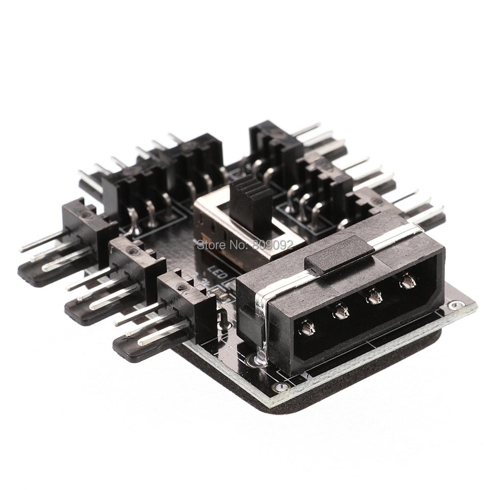 ПК компьютер IDE Molex 1 до 8 многоходовой сплиттер охладитель охлаждающий вентилятор концентратор 4/3pin 12 В блок питания PCB адаптер 2 уровня контр...