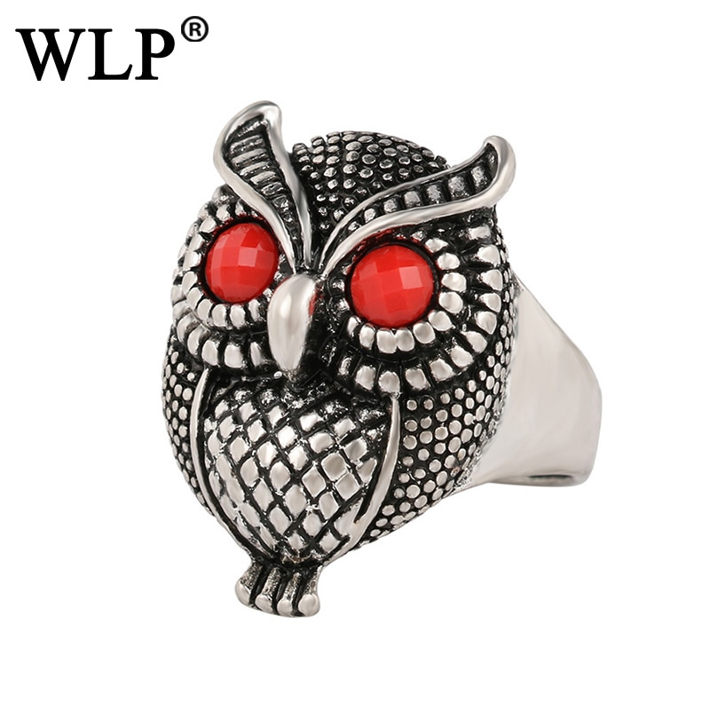 WLP marca estilo de búho anillo único Retro especial encantador misterioso chica joven y mujer como buen regalo para amigo hombre A-1054