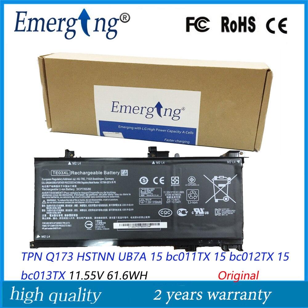 11.55V 61.6Wh جديد الأصلي TE03XL بطارية كمبيوتر محمول ل HP 849910 850 TPN Q173 جناح 15 UHD TPN Q173 HSTNN UB7A 15 bc011TX 15