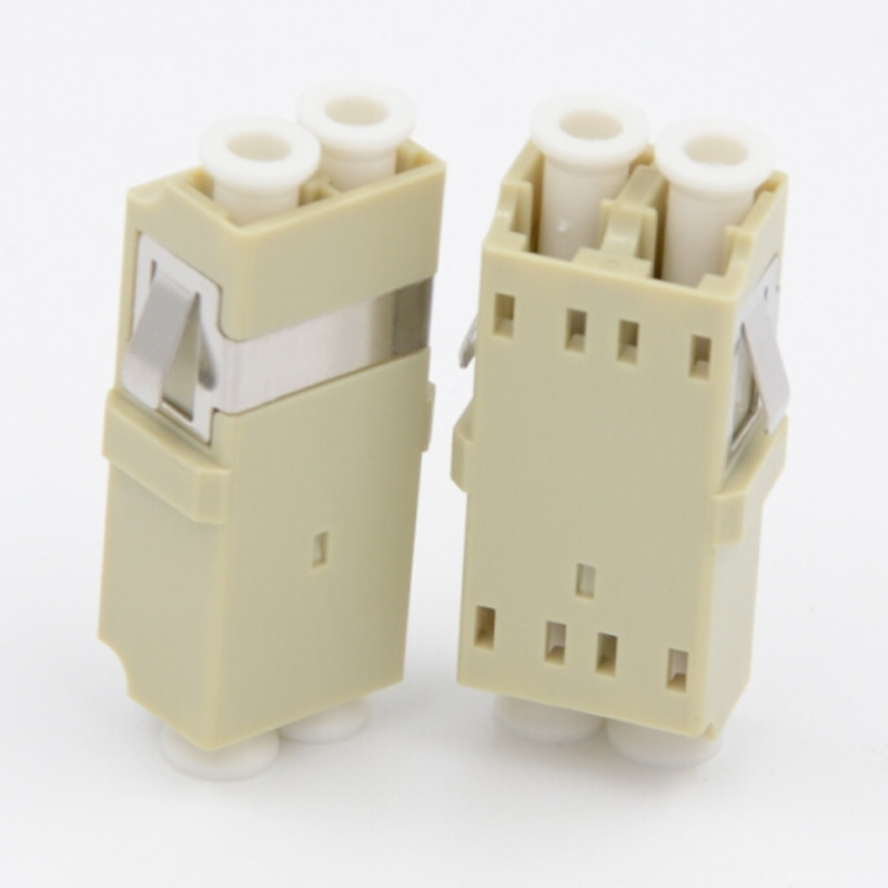50 unids/lote LC/PC dúplex multimodo SC adaptador de fibra óptica tipo LC acoplador de fibra óptica LC/PC conector de brida de fibra LC