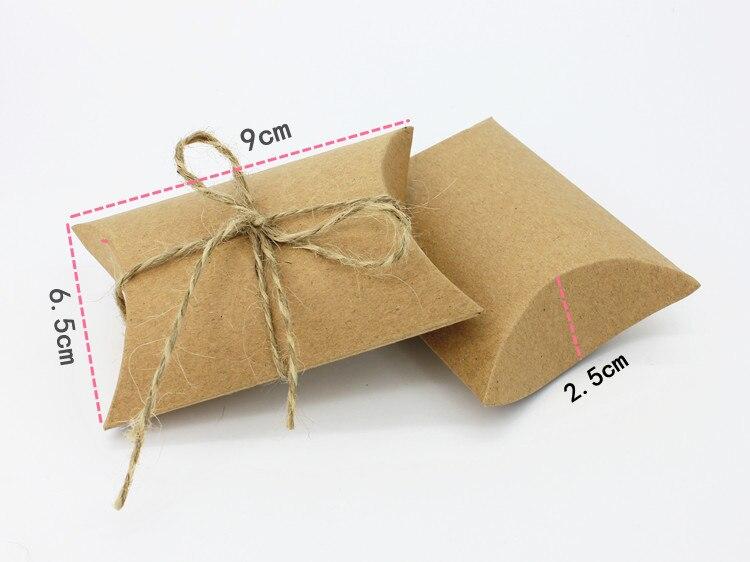 Fournitures de festival boîte cadeau en papier   Corde blanche kaki, bonbons chocolat, boîte cadeau pour fête danniversaire ou mariage, cadeau artisanal bricolage, cadeau Wh