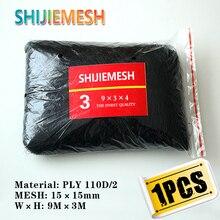 Hohe Qualität 9 mt x 3 mt 4 tasche 15mm Loch Orchard Garden Anti Vogel Net Polyester 110D/ 2 nebel Net 1 stücke