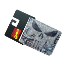 Comics les punis portefeuille en cuir sac à main portefeuille célèbre concepteur dessin animé Anime Dollar prix carte fente hommes portefeuilles courts