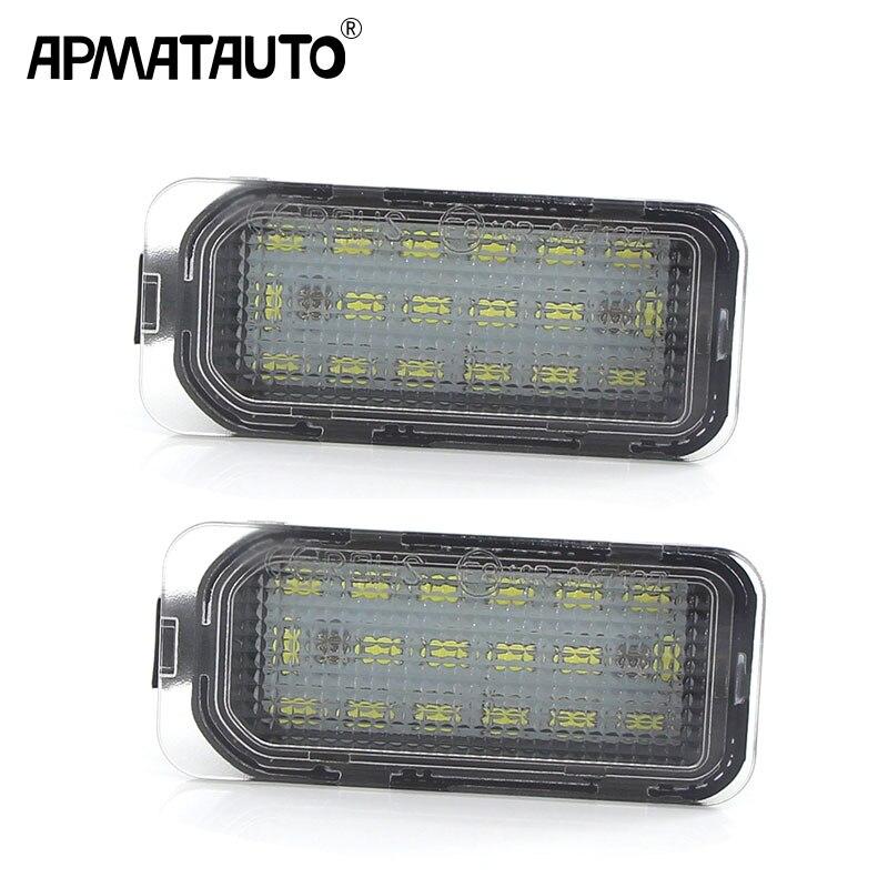 1 par de luz LED de matrícula blancas sin errores para Jaguar XF X250 XJ X351, lámpara trasera con números de coche, reemplazo de estilo de coche