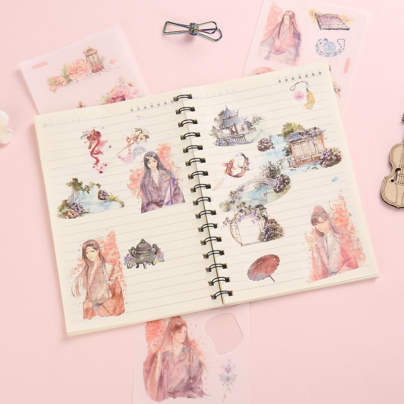 1 сумка мультфильм васи бумажный стикер креативная девушка скрапбук DIY дневник альбом для декоративных наклеек стикер s
