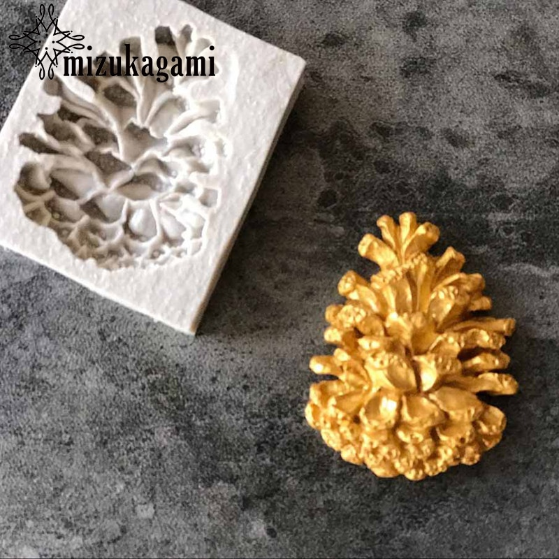 1pcs UV Resin Jewelry Liquid Silicone Mold Pine Cone Resin Charms Pendant Molds For DIY Intersperse Decorate Making Jewelry 1pcs uv resin jewelry liquid silicone mold christmas snowflake resin charms molds for diy pendant jewelry making finding molds