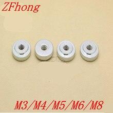 Serre-écrou à pouce galvanisé   GB807 m3/m4/m5/m6/m8, écrou à main rond mince 20 pièces/lot