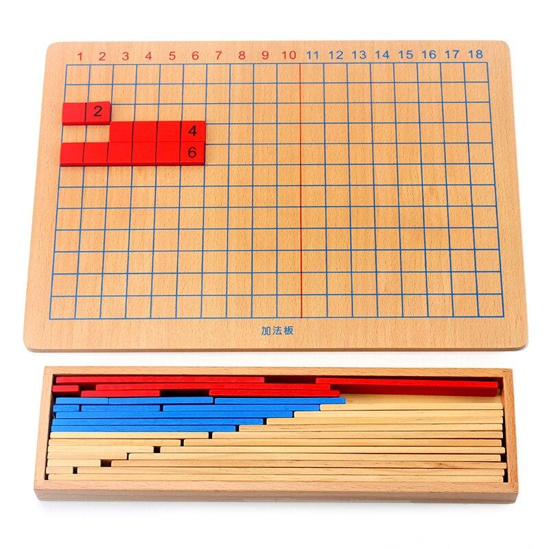 Envío Gratis Montessori, tablero de tiras de tracción, juguetes de matemáticas para niños en edad preescolar educativos, juguetes de matemáticas