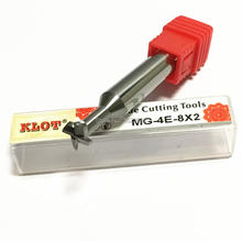 KLOT HRC55 T Slot Keyseat Milling Cutter Solid Carbide End Mill 3 4 5 6 8 10 12 14 16 20mm CNC
