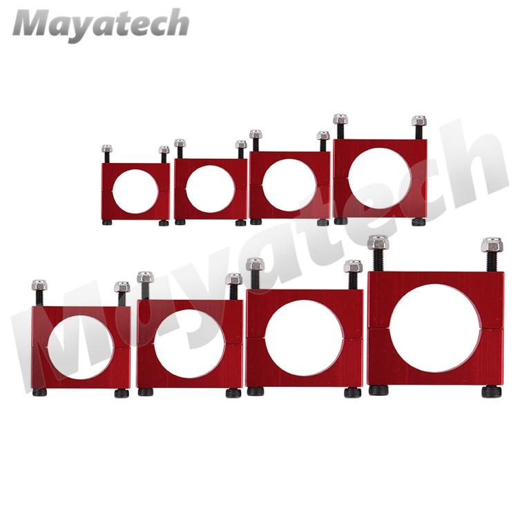 CNC алюминий 10 мм 12 мм 16 мм 20 мм 22 мм 25 мм 30 мм красная трубка зажим для крепления двигателя зажим для крепления держателя для многоосевого само...