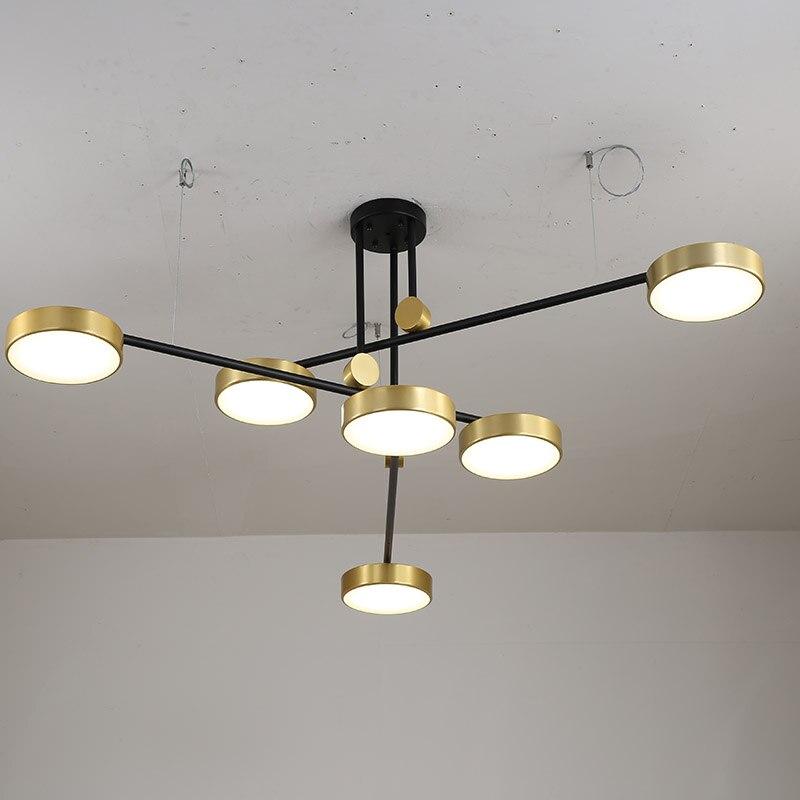 الأمريكية بسيط Led الثريا مع جولة الذهب عاكس الضوء 3 أضواء عكس الضوء شنقا أضواء لغرفة المعيشة مطعم