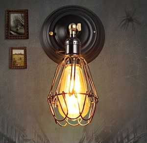 Retro Loft Style Edison Wall Sconce Iron Cage Wall Light Fixtures Vintage Industrial Lighting Wall Lamp For Home Arandela