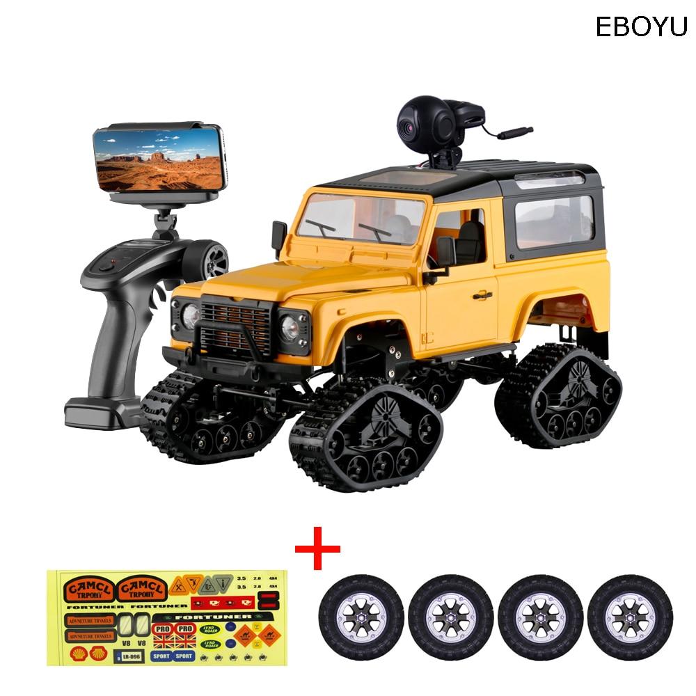 EBOYU FY003AB WiFi 2,4 Ghz 1/16 4WD neumáticos de nieve camión todoterreno RC camión + todoterreno neumáticos WiFi FPV 0.3MP Cámara clásica Retro RTF