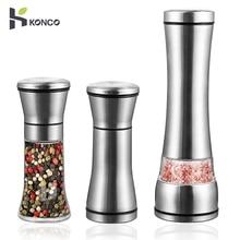 KONCO-moulin à sel et à poivre   Moulins à sel et à café en acier inoxydable avec broyeur à poivre en céramique réglable