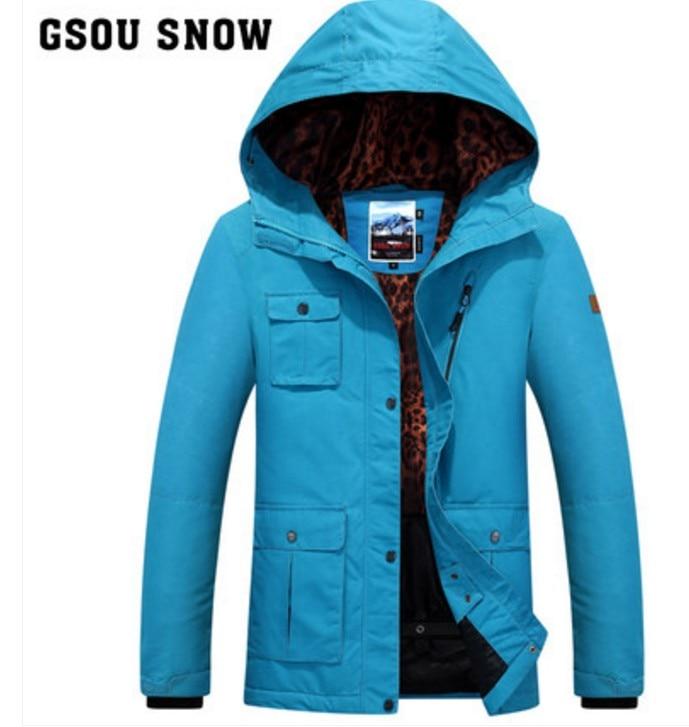 Chaqueta de esquí azul con varios bolsillos para mujer, chaqueta de esquí de escalada naranja para mujer, ropa deportiva impermeable de invierno para exteriores