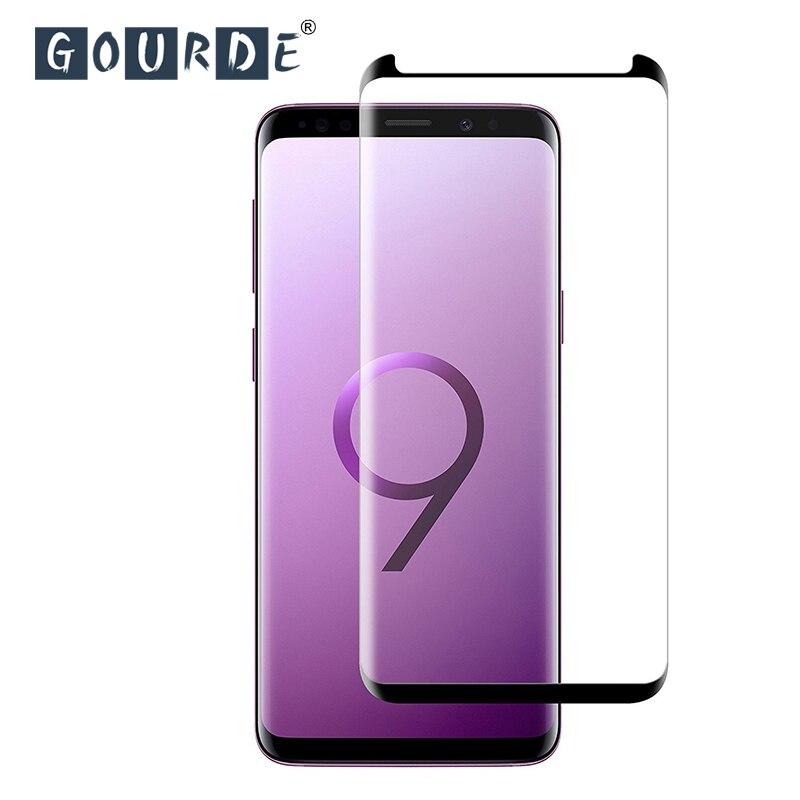 Vidrio Templado Gourde para Samsung Galaxy Note9 S9 Plus S8 Protector de pantalla para Samsung S7 edge note 8 S9 3D 9H vidrio Protector