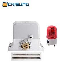 Ouvre-porte de Garage automatique coulissant   Moteur de porte électrique GSM avec lampe davertissement, support dengrenages en acier
