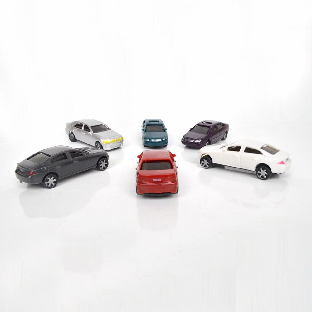 50pcs resin plastic scale model car 1;75 miniature scale cars for model train landscape недорого