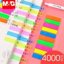 M & G 4000 Uds. Notas adhesivas lindas de plástico, etiqueta de nota de bandera, etiqueta de índice, etiqueta de bloc de notas, marcalibros adhesivos, planificador de carteles
