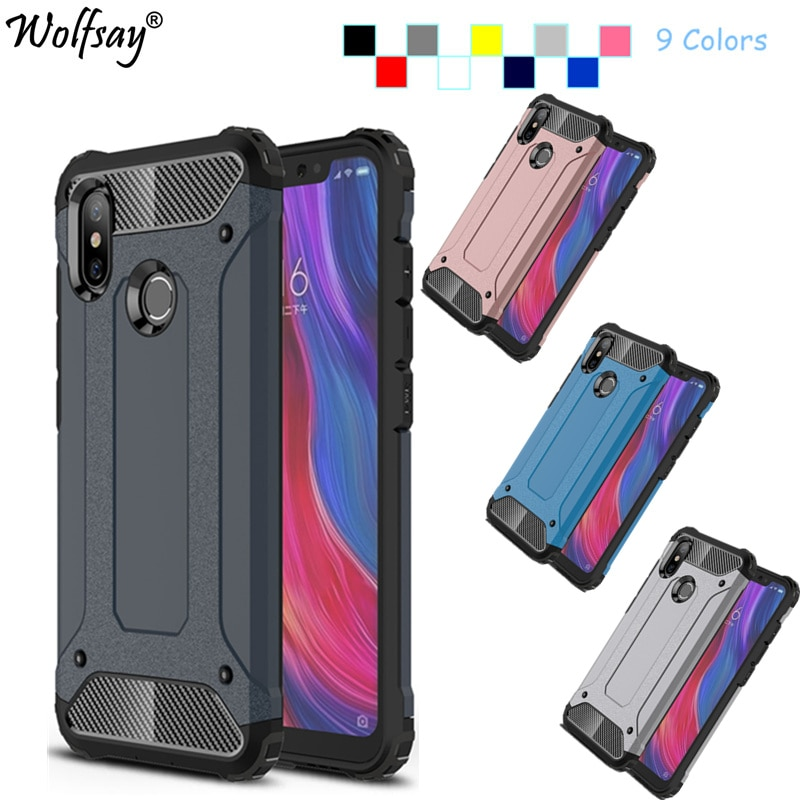 For Xiaomi Mi 8 Case Cover For Xiaomi Mi8 Case Shockproof Silicone & Strong Armor PC Phone Case For