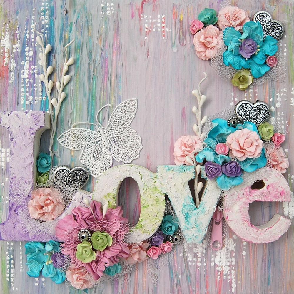 Love flower 5d DIY Diamond Painting Cross Stitch Full Square/round Drill Diamond Embroidery Mosaic Valentine's Day Diamond Gift
