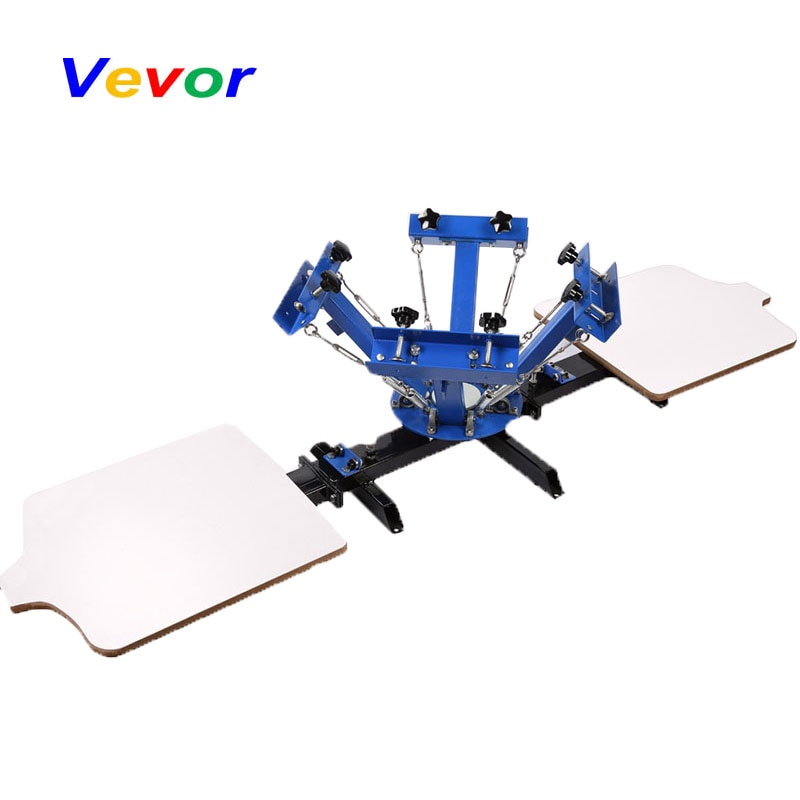 free shipping discount with gift 4 color 2 station silk screen printing machine tshirt printer press equipment carousel squeegee VEVOR Screen Printing Machine Hot Press 2 Station Silk Screening Screenprint Press
