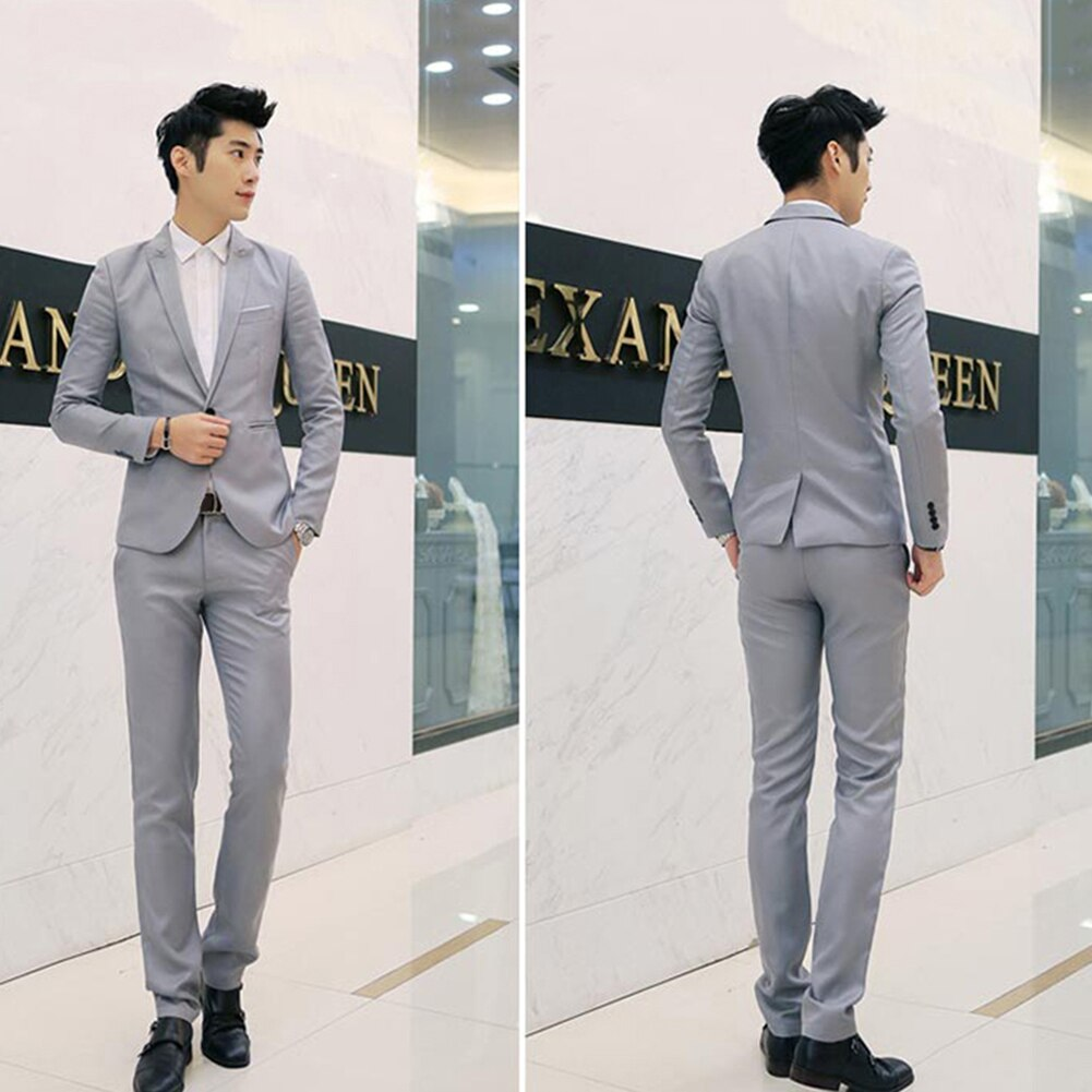 Fashion One Button Brand Blazer British'S Style Casual Slim Fit Suit Jacket Male Blazers Men Coat Terno Masculino Plus Size