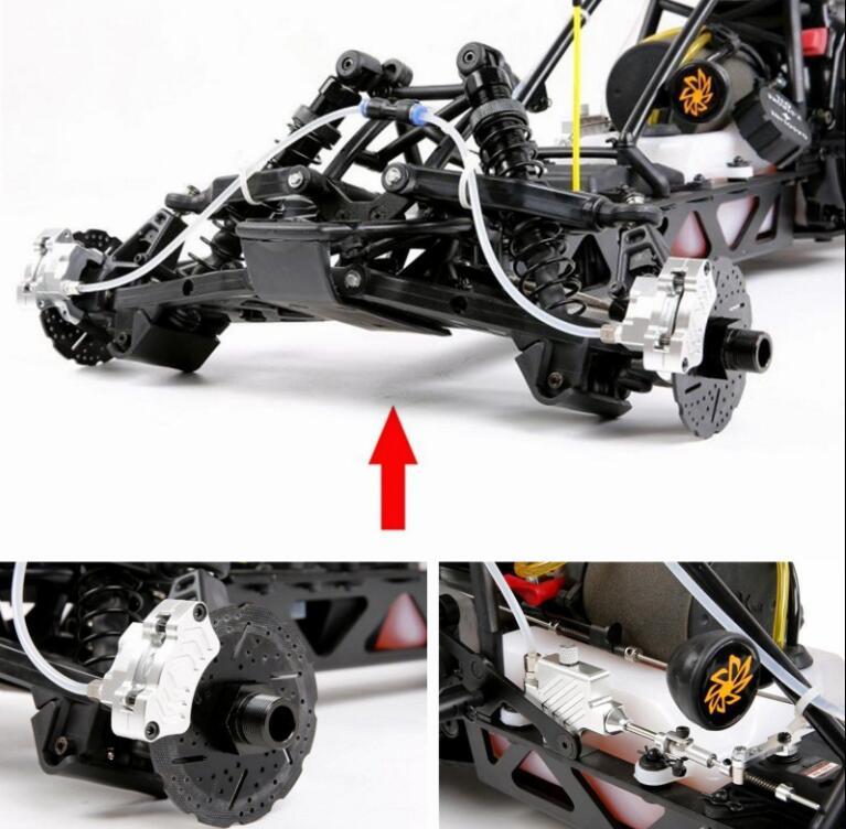 Передние колеса гидравлическая тормозная система для 1/5 весы Hpi KM Baja 5b 5SC RC автозапчасти