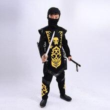 children boys cosplay Carnival Halloween party black swordsman Ninjago japanese anime ninja suit samurai warrior costume clothes