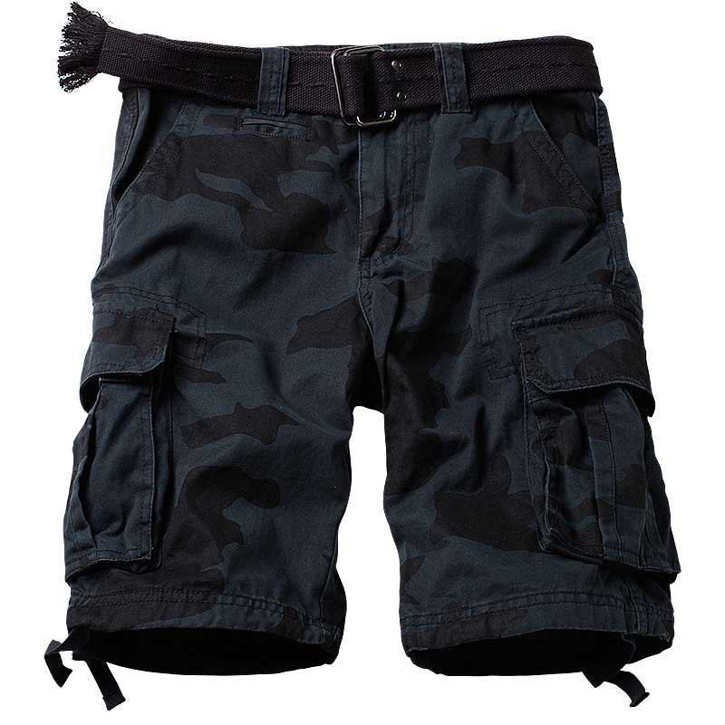 Battle Field Camouflage Cargo Shorts Men Casual Cotton Loose Baggy Beach Shorts  Military Army Style Cotton Shorts Man Clothes men s camouflage style lace up slimming elastic shorts