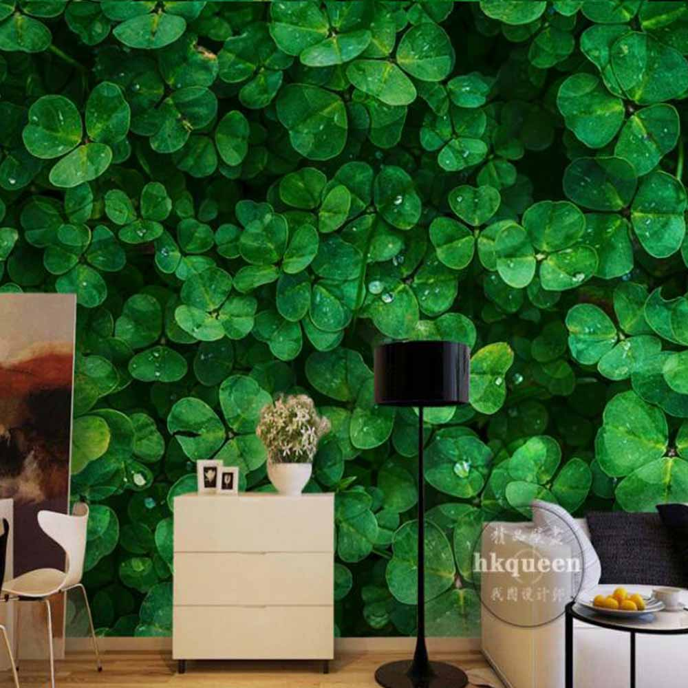 Hojas verdes plantas foto Mural 3D papel tapiz Sala Oficina restaurante TV Backround murales papel de pared rollos paisaje
