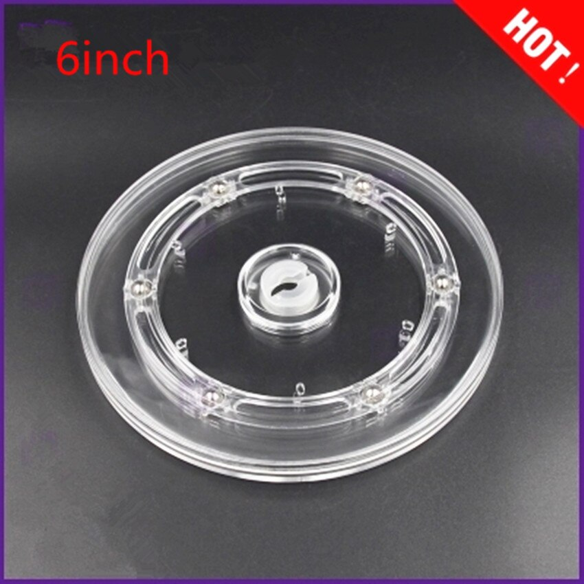 manual plastic turntable 20cm 8 inch rotating base acrylic transparent photo frame display stand three dimension accessories Diameter: 6inch Transparent Acrylic rotary  Lazy Susans turntable display rack rotating base swivel plate