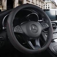 car steering wheel cover non slip ventilation pu leather universal fits most car styling car handle cover